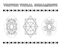 Vector Tribal Emblems Royalty Free Stock Photos