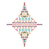 Vector Tribal ethnic ornament. Aztec decor elements. Tribal elements design isolated on pastel background. Flat decor elements. Pe Stock Photography