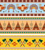 Vector Tribal Ethnic Vintage Background Stock Photography