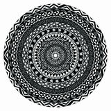 Vector tribal folk aztec geometric pattern in circle royalty free illustration