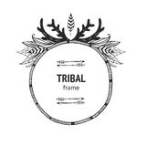 Vector tribal frame Royalty Free Stock Photography