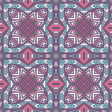 Vector Tribal indian ethnic seamless pattern. Vector Tribal Mexican style ethnic seamless pattern. Vintage indian  geometric background Royalty Free Stock Photos