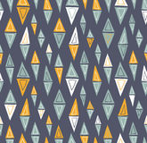 Vector tribal inspired seamless geometric pattern. With triangles Stock Photo