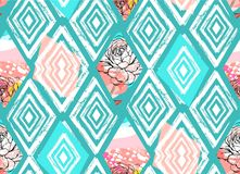 Vector Tribal Mexican vintage ethnic seamless pattern vector illustration