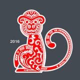 Vector tribal monkey. New year calendar Stock Photos