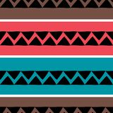 Vector tribal pattern with african colorful abstract drawing background. Good for your textile fashion wrapping and print. Ethnic line maya aztec texture stock illustration