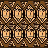 Vector tribal pattern with african face drawing. Good for your textile fashion wrapping and print. Ethnic line maya aztec texture illustration geometric navajo vector illustration