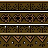 Vector tribal pattern with african style illustration seamless background. Good for your textile fashion wrapping and print. Ethnic line maya aztec texture stock illustration