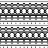 Vector tribal pattern with aztec african drawing symbol in black and white. Good for your textile fashion wrapping and print. Ethnic line maya texture vector illustration