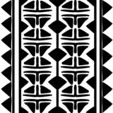 Vector tribal pattern with black and white african ethnic drawing. Good for your textile fashion wrapping and print. Line maya aztec texture illustration royalty free illustration