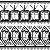 Vector tribal pattern with black and white ethnic symbol maya aztec style. Good for your textile fashion wrapping and print. African line texture illustration stock illustration
