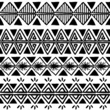 Vector tribal pattern with black and white hand drawn african ethnic drawing. Good for your textile fashion wrapping and print. Line maya aztec texture royalty free illustration