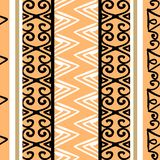 Vector tribal pattern with colorful vintage drawing ornament. Good for your textile fashion wrapping and print. African ethnic line maya aztec texture stock illustration