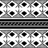 Vector tribal pattern with culture drawing bohemian style in black and white. Good for your textile fashion wrapping and print. African ethnic line maya aztec vector illustration