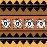 Vector tribal pattern with hand drawn african ethnic geometric illustration. Good for your textile fashion wrapping and print. Line maya aztec texture navajo stock illustration