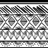 Vector tribal pattern with hand drawn black and white. Good for your textile fashion wrapping and print. African ethnic line maya aztec texture illustration stock illustration