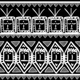 Vector tribal pattern with seamless black and white colors maya drawing background. Good for your textile fashion wrapping and. Print african ethnic line aztec royalty free illustration
