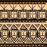 Vector tribal pattern with seamless ethnic aztec vintage drawing multicolor background. Good for your textile fashion wrapping and. Print african line maya royalty free illustration
