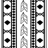 Vector tribal pattern with seamless hand drawn african ethnic in black and white. Good for your textile fashion wrapping and print. Line maya aztec texture vector illustration