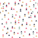 Vector tribal seamless geometric pattern with triangles. Vector tribal inspired seamless geometric pattern with triangles Stock Image
