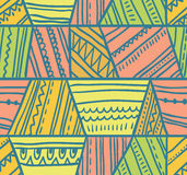 Vector tribal seamless pattern. Geometric background Stock Photo