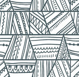 Vector tribal seamless pattern. Geometric background Royalty Free Stock Photos