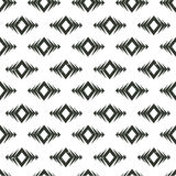 Vector tribal seamless pattern. Geometric ethnic ornament with rhombuses. Stock Photo