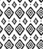 Vector tribal seamless pattern with rhombuses. Stock Images