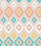 Vector tribal seamless pattern with rhombuses. Royalty Free Stock Photography