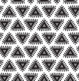 Vector tribal seamless pattern with triangles. Geometric background Royalty Free Stock Photos