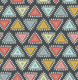 Vector tribal seamless pattern with triangles. Royalty Free Stock Images