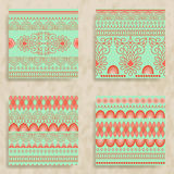 4 Vector Tribal Seamless Patterns Royalty Free Stock Images