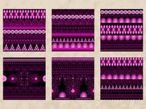 4 Vector Tribal Seamless Patterns Stock Photos