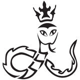 Vector tribal. A snake with a crown Royalty Free Stock Photos