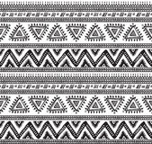Vector tribal striped seamless pattern. Geometric background Stock Photo