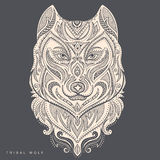 Vector tribal style wolf totem tattoo Stock Photos