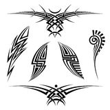 Vector tribal tattoo set Royalty Free Stock Photography