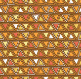 Vector tribal triangle seamless pattern. Geometric background Stock Photos
