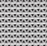 Vector tribal triangle seamless pattern. Geometric background Stock Photo