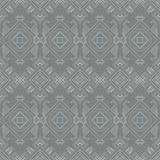 Vector tribal wire grey blue seamless pattern Royalty Free Stock Photo