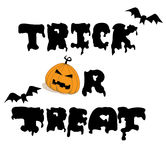 Vector for Trick or Treat Royalty Free Stock Images