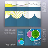 Vector trifold business brochure template design Stock Photos