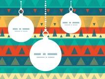 Vector trillende Kerstmisornamenten van ikatstrepen Stock Foto's