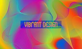 Vector trillende ontwerpachtergrond met chaotisch wervelend guilloche element stock illustratie