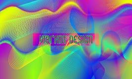Vector trillende ontwerpachtergrond met chaotisch wervelend guilloche element vector illustratie