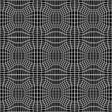 Vector trippy Muster der abstrakten Geometrie des Hippies mit 3d Illusion, nahtloser geometrischer Schwarzweiss-Hintergrund Stockbild