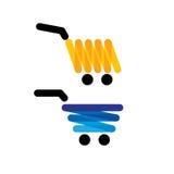 Vector troles originais simples da compra do ícone - gráficos do conceito mim Imagens de Stock Royalty Free