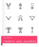Vector trophy and awards icon set Royalty Free Stock Photos
