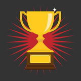 Vector of Trophy Cup Flat Icon.eps10 Stock Photography