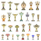 vector trophy cups Royalty Free Stock Images